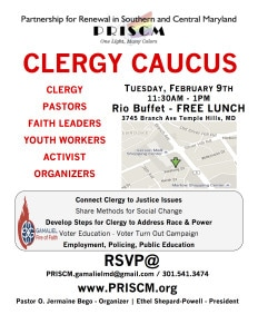 PRISCM Clergy Caucus Flyer